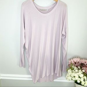 ATHLETA Soft Pink Asymmetrical Long Sleeve Blouse